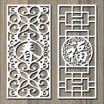 Chinese textured wall pattern  free vector download for Laser cut CNC