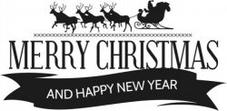 Christmas and New Year banners file cdr and dxf free vector download for print or laser engraving machines