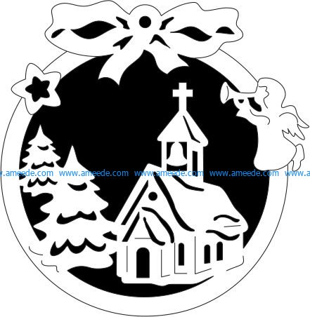 Christmas image decorated with noel file cdr and dxf free vector download for Laser cut Plasma file Decal