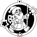 santa claus decorate the christmas tree file cdr and dxf free vector download for Laser cut Plasma file Decal