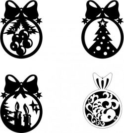 Christmas tree hanging ball file cdr and dxf free vector download for Laser cut CNC