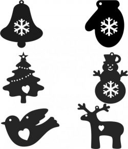 Christmas tree hanging file cdr and dxf free vector download for Laser