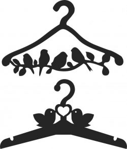 Clothes hangers with birds file cdr and dxf free vector download for Laser cut CNC