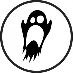 Coasters Halloween Ghost file cdr and dxf free vector download for laser engraving machines