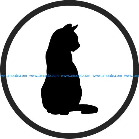 Coasters cute Cats file cdr and dxf free vector download for Laser cut