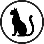 Coasters cute cat file cdr and dxf free vector download for printers or laser engraving machines