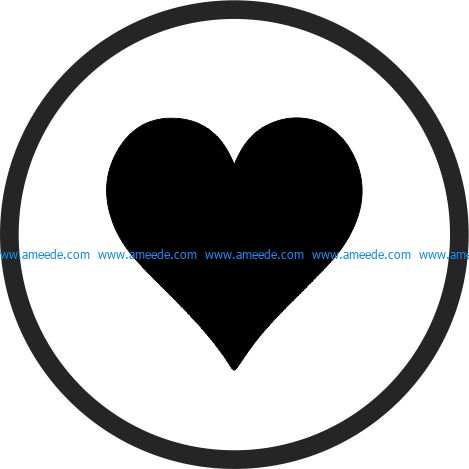 Coasters heart Card Suits file cdr and dxf free vector download for Laser cut
