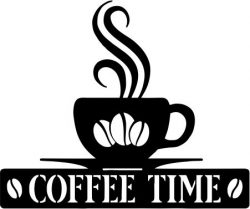Coffee Time file cdr and dxf free vector download for Laser cut plasma