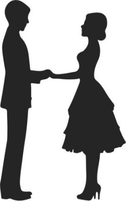 Couple in love file cdr and dxf free vector download for print or laser engraving machines