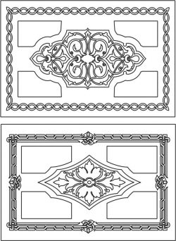 Creative rectangular decorative motifs file cdr and dxf free vector download for Laser cut CNC