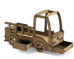 Crib shaped truck  file cdr and dxf free vector download for Laser cut CNC