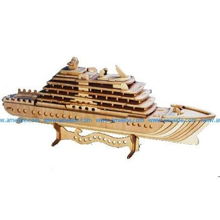 Cruiseschip passagierschip houten bouwpakket file cdr and dxf free vector download for Laser cut CNC