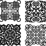 Damask seamless floral pattern file cdr and dxf free vector download for Laser cut Plasma