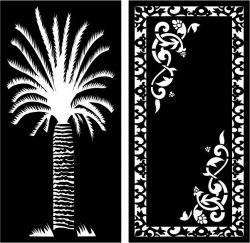 Date palm partition file cdr and dxf free vector download for Laser cut CNC