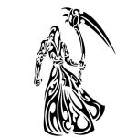 Death file cdr and dxf free vector download for print or laser engraving machines