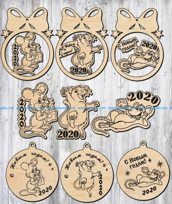 Decoration mouse image 2020 file cdr and dxf free vector download for Laser cut Plasma file Decal