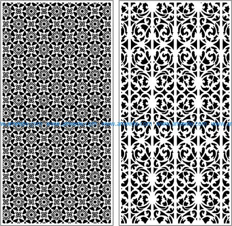 Decorative baffles unique pattern file cdr and dxf free vector download for Laser cut CNC