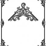 Decorative frame corner file cdr and dxf free vector download for printers or laser engraving machines