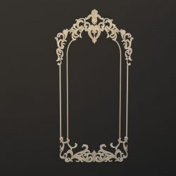 Decorative frame pattern 3ds Max Scene File free 3D Image download for CNC
