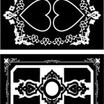 Decorative frame with heart motifs file cdr and dxf free vector download for Laser cut CNC