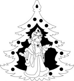 Decorative pictures of russian little girl christmas tree file cdr and dxf free vector download for Laser cut Plasma file Decal