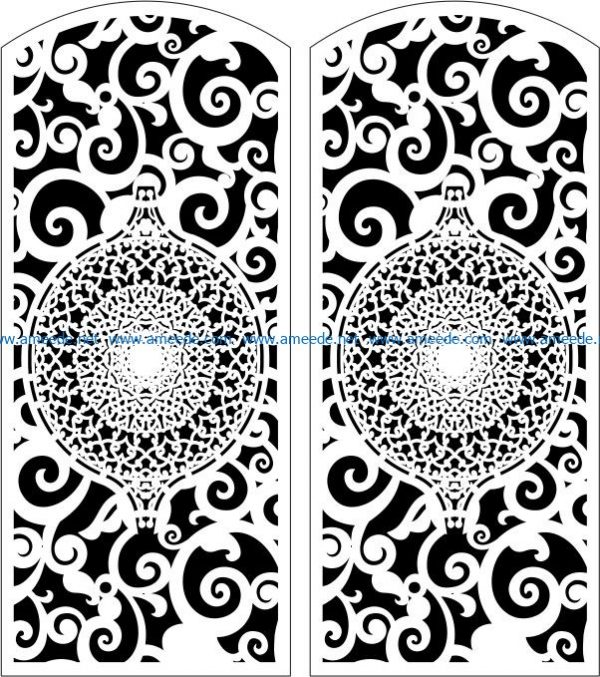 Design Door E0006110 file cdr and dxf free vector download for Laser cut CNC