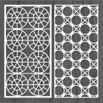 Design interwoven circle bulkhead file cdr and dxf free vector download for Laser cut CNC