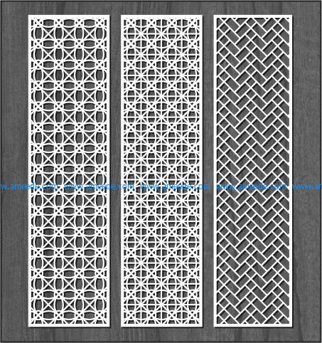 Design interwoven column bulkhead file cdr and dxf free vector download for Laser cut CNC