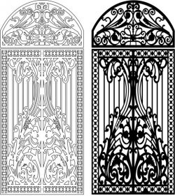 Design of iron arches file cdr and dxf free vector download for Laser cut CNC