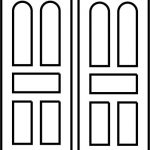 Design of rectangular and arched door panels  file cdr and dxf free vector download for CNC cut
