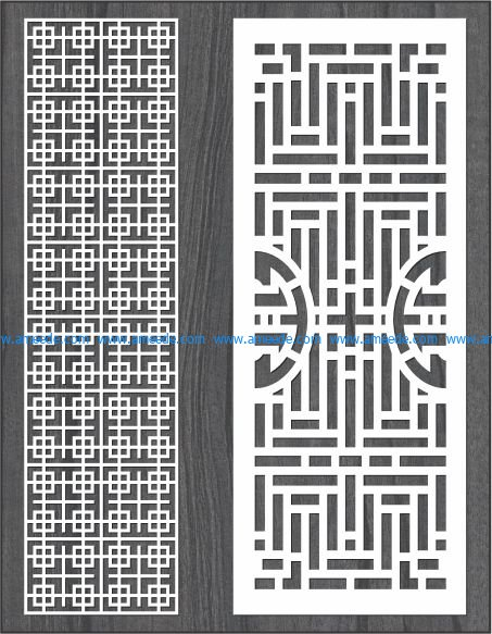 Design of striped diaphragm bulkhead file cdr and dxf free vector download for Laser cut CNC