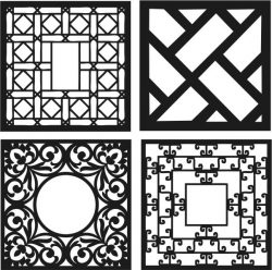 Design template square decoration file cdr and dxf free vector download for Laser cut CNC