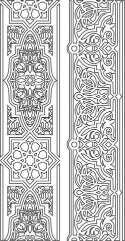 Detailed wood carving pattern file cdr and dxf free vector download for CNC cut