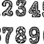 Digit design with vines pattern  file cdr and dxf free vector download for print or laser engraving machines
