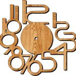 Digital wall clock file cdr and dxf free vector download for Laser cut plasma