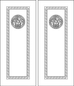 Door face design  file cdr and dxf free vector download for Laser cut CNC