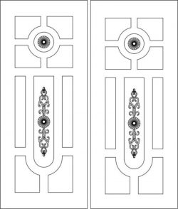 Door pattern has a unique pattern design  file cdr and dxf free vector download for Laser cut CNC