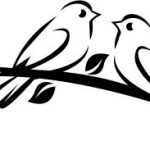 Double bird on the tree branch file cdr and dxf free vector download for printers or laser engraving machines