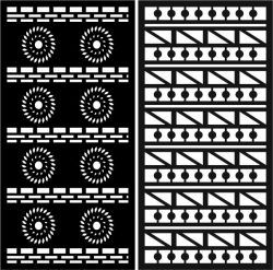 Duplicate detailed baffle pattern file cdr and dxf free vector download for Laser cut CNC