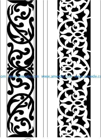 mdf cut pattern file cdr and dxf free vector download for CNC cut