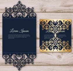 Elegant Invitation card file cdr and ai free vector download for Laser
