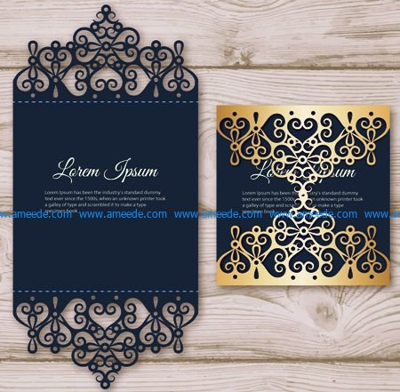 Elegant Invitation Card File Cdr And Ai Free Vector Download