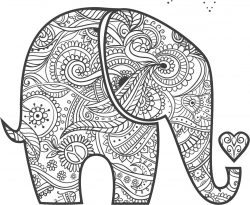 Elephants with henna art file cdr and dxf free vector download for laser engraving machines