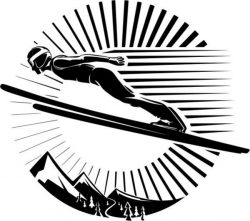 Extreme ski sport file cdr and dxf free vector download for print or laser engraving machines