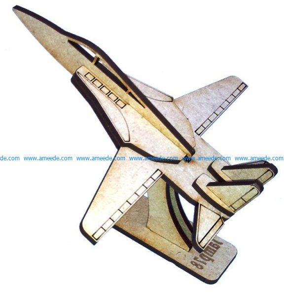 F11 aircraft assembly model file cdr and dxf free vector download for Laser cut CNC