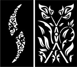 Fire-shaped partition file cdr and dxf free vector download for Laser cut CNC