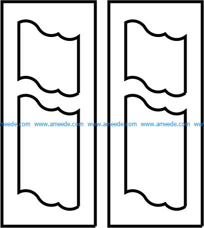 Flag door pattern file cdr and dxf free vector download for CNC cut