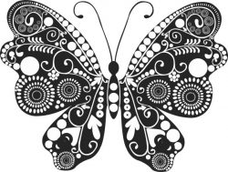 Floral butterfly file cdr and dxf free vector download for laser engraving machines