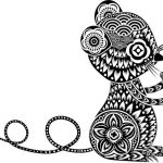 Floral mouse with decorative circle file cdr and dxf free vector download for printers or laser engraving machines