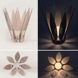 Flower lamp file cdr and dxf free vector download for Laser cut